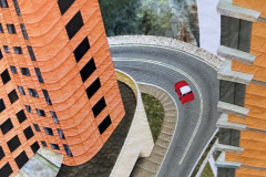 """Hong Kong Taxi"" (60 x 42 inches) Jean Renli Jurgenson 2009"