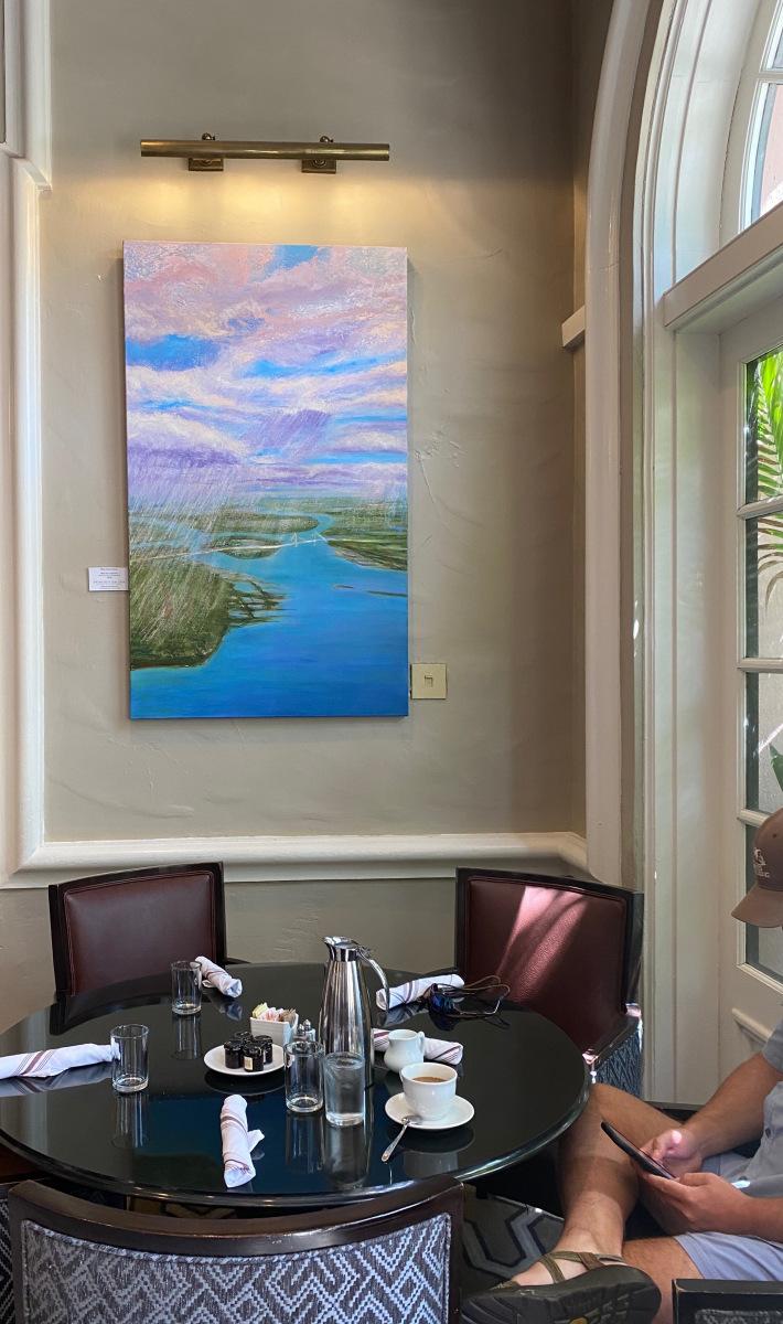 "Rain Over Charleston, 60"" x 36"" oil on canvas"