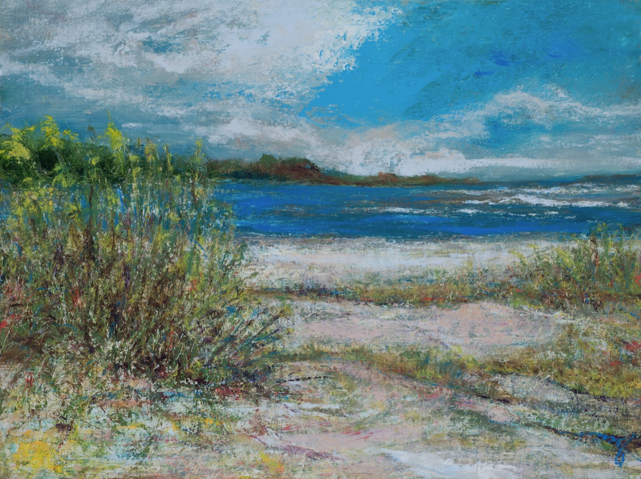 """Lavender Point 18"""" x 24"""" oil on linen SOLD"""