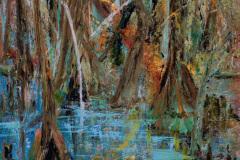 "Beidler Blues 24"" x 18"" oil on canvas, framed"
