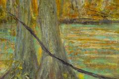 """Black Branch 10"""" x 7"""" oil on linen, framed $450"""