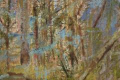 """Blue Moss 12"""" x 12"""" oil on panel, framed"""