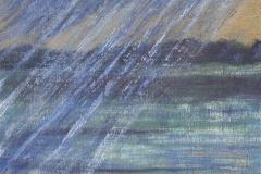 """Rainstorm 16"""" x 12"""" oil on canvas, framed"""