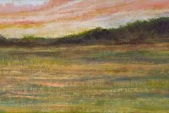 """Sunset 8"""" x 24"""" oil on panel, framed"""