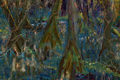 "Swamp Knees 24"" x 18"" oil on canvas, framed"