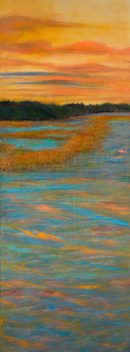 "High Tide II 96"" x 36"" oil on canvas $15,000"