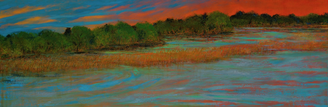 Save the Creek 24 x 72 oil on canvas $7,500