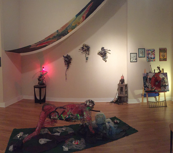 Mary Edna Fraser installation at Out of Line Gallery, Chicago