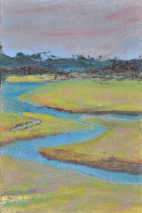"Meander, oil on panel, 6"" x 4"""
