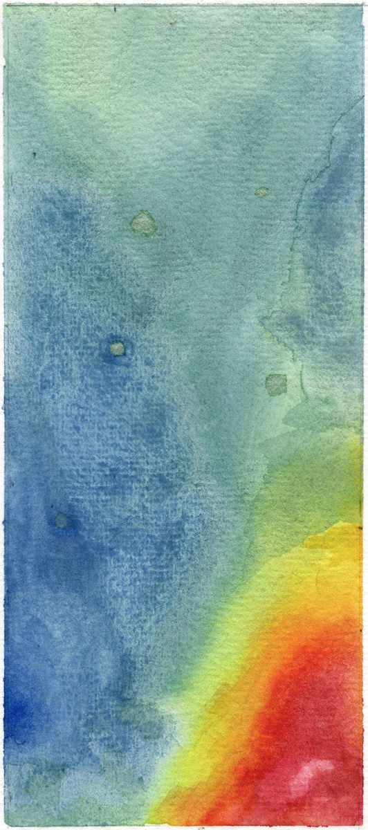 Bajan Mud Volcanoes, watercolor on paper, Barbados, RV Atlantis 2012