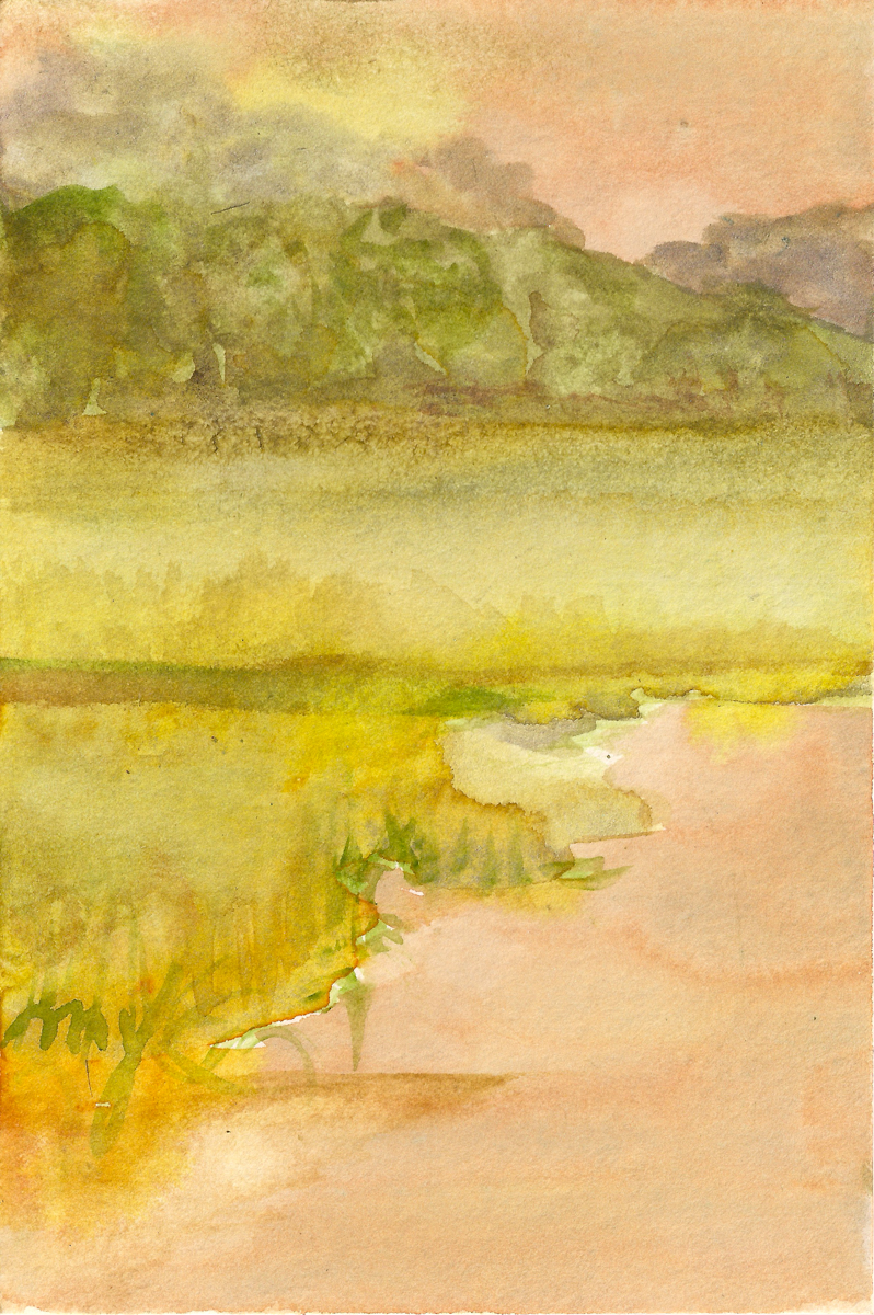 Ellis Creek 1, watercolor on paper