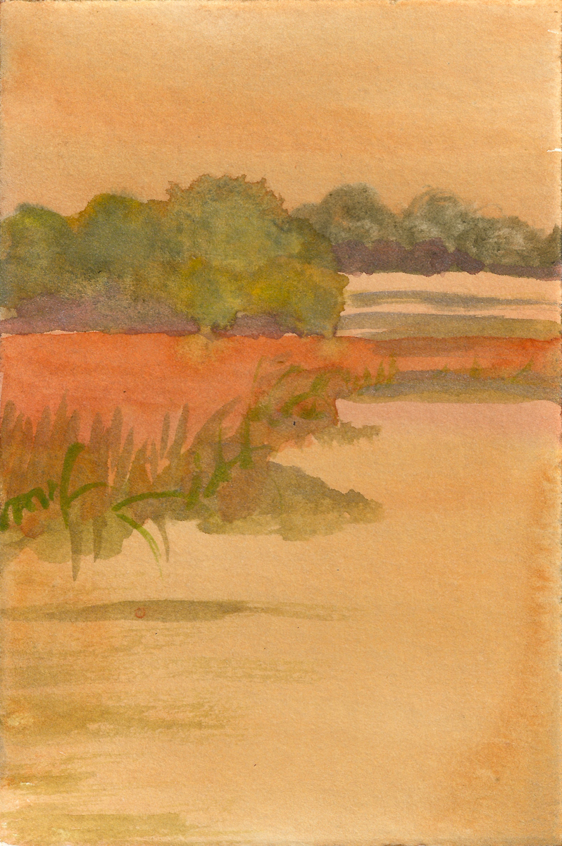 Ellis Creek 2, watercolor on paper