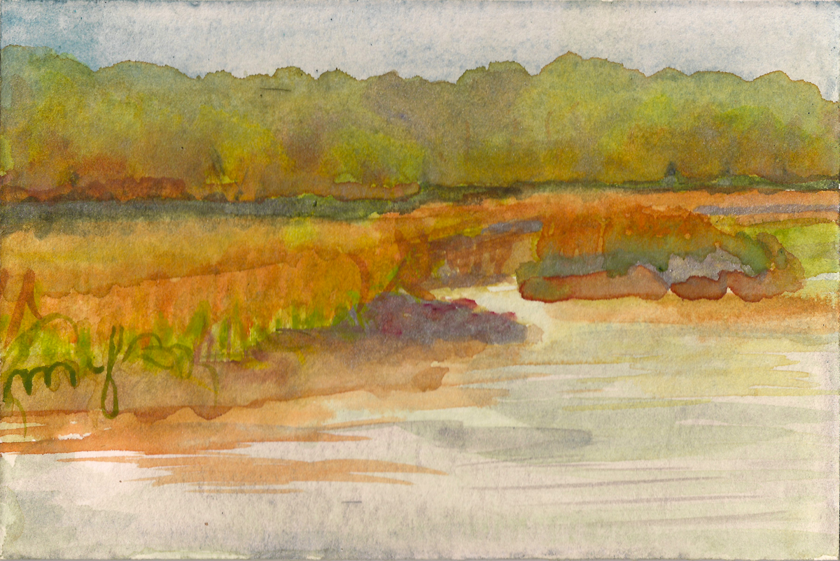 Ellis Creek 3, watercolor on paper